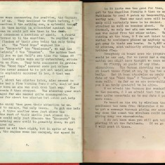Double page showing a typewritten entry in Nurse Harvey's autograph album | Courtesy of the Imperial War Museum