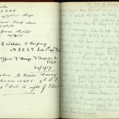 Double page from Nurse Harvey's autograph album showing handwritten entries from injured soldiers | Courtesy of the Imperial War Museum