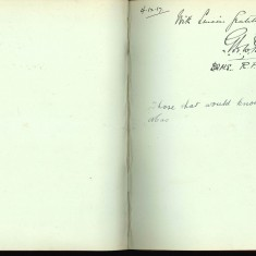 Double page from Nurse Harvey's autograph album showing a handwritten entry made by an injured soldier | Courtesy of the Imperial War Musuem