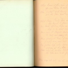 Double page from Nurse Harvey's autograph album showing a handwritten entry from an injured soldier | Courtesy of the Imperial War Museum
