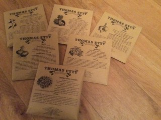 Thomas Etty heritage seed packets | Southlands Raod Allotment and Gardens Association