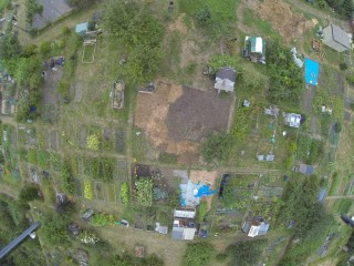 Aerial view of the First World War allotment plot | Richard Bickell/Bromley Local Studies and Archives