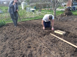 Volunteers working on the allotment   Southlands Road Allotment and Gardens Association