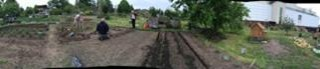 A panoramic view of the allotment plot   Southlands Road Allotment and Gardens Association