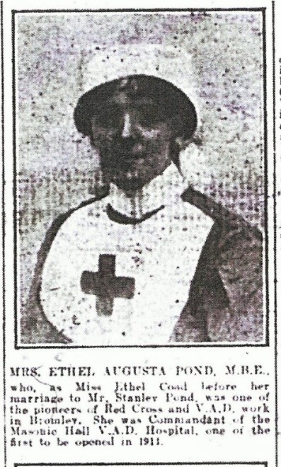 Newspaper cutting showing Ethel Pond